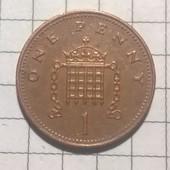 Монета Великобритании 1 пенни 2007