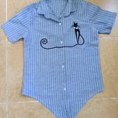Прекрасная летная рубашка размер 134, 140. Состояние нового!