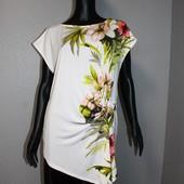 Качество! Красивая блуза с ассиметричным низом от бренда Wallis, новое состояние