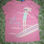 Нова футболка для дівчинки 5-6 років
