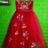 Новое! Шикарное корсетное праздничное платье на рост 116-122-128