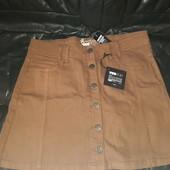 Модная джинсовая юбка трапеция М-Л