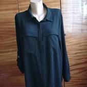 Черная рубашка 22 размера ( пог  69- 76 см)