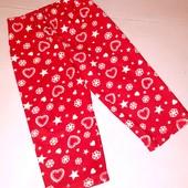 Флисовые домашние пижамные штаны для девочки 2-3 лет рост 92-98