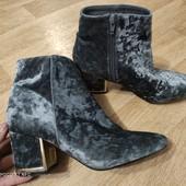 Велюровые ботиночки 41р