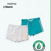 комплект 2 шт! размер на выбор! 86-116, трикотажные летние шорты Impidimpi, Германия