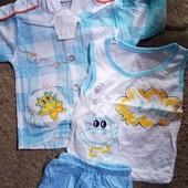 Костюмчик -майка,шорты,рубашка