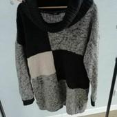 Теплый удлиненный свитер/кофта размера 52/54