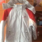 термо Куртка, на осень, тонкая, внутри флис, Mембрана, р. 8 лет 128 см, Alive sports. сост. отличное