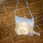 Мягкая игрушка подушка гавкающая собачка