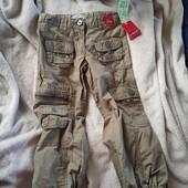 Фірмові брюки джоггери утяжка в талії.коттон 102зріст.4роки