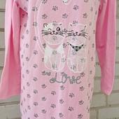 Новое отличное домашнее платье/ ночная,утеплена байкой.качество супер .р.50.