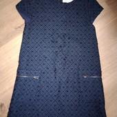 Zara теплое платье на девочку 8лет замеры на фото