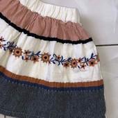 Стоп Zara, оригинал❤ Фирменная пышная юбка-вышиваночка для девочки,2-3 года❤ Много лотов!