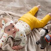 ☘ Якісний комплект для малюків: боді+ штанці+пов'язка, бавовна, Tchibo (Німеччина), р.: 62/68