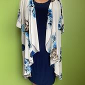 Комбинированное платье с шифоновой накидкой
