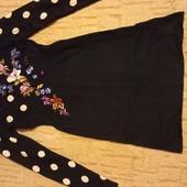 Трикотажное платье осень- зима, размер S