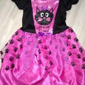 Платье карнавальное Кошечки 3-5лет замеры на фото