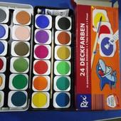 Краски акварельные сухие, 24 цвета (производство Германия)