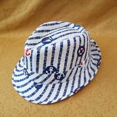 новая детская шляпка в морском стиле(52/54р)