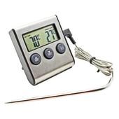Профессиональный цифровой термометр для мяса и теста TP-700 с выносным датчиком до 250°С