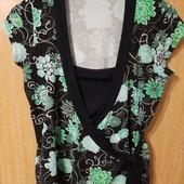 Симпатична блузочка-двійка (обманка) для пишненьких, віскоза