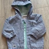 Літня курточка на хлопчика 3-6 міс., льон+котон