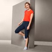 ☘ Еластичні штани з принтом довжиною 3/4 від Tchibo (Німеччина), розмір наш: 54-56 (48/50 євро)