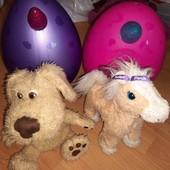 Интерактивные игрушки + пластиковые яйца единорожкт