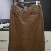 Качественная юбка из плотной кожи. р. L, Xl. Ореинтируйтесь замерам