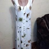 Распродажа!Длинное вискозное платье халат 10 размера.