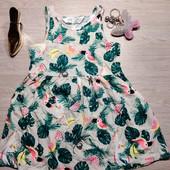 Швеция!!! Яркое коттоновые летнее платье для девочки! 92 рост!