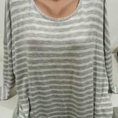 Красивый легкий свитерок!!Без дефектов, большой размер для пышных форм,тянется очень приятная к телу
