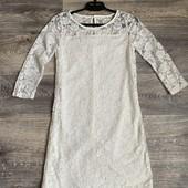 Белое кружевное платье gina 36p