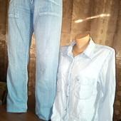 ***Новинки! Размер 48-50. Брендовый джинсовый лот. Рубашка 100% хлопок.