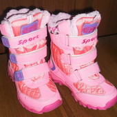 Зимние теплые ботинки для девочки