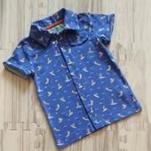 Шикарная рубашка мальчику .Мягкий футболочный трикотаж. Рост 104. Сотни лотов!