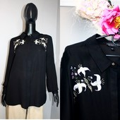 Качество! Стильная блуза/удлиненная спинка, рисунок вышит от Dorothy Perkins, в новом состоянии