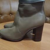 Новые кожаные ботинки демисезонные, размер 40