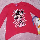 Шикарная мерцающая кофточка с Минни Маус,от Disney,в идеале, на девочку 6-8 лет