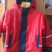 куртка, непромокайка, внутри флис, р 5-6 лет 116 см, Impidimpi. состояние отличное