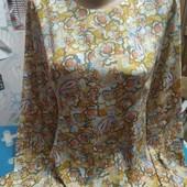 Платье из шёлка на женщину S,см.замеры