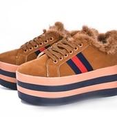 ☘ Лёгкие стильные кроссовки на платформе