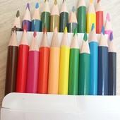 Цветные карандаши! 24шт.Отличное качество!