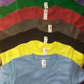 много цветов и размеров!шикарные детские футболки,унисекс. Бангладеш фирма anvil 100% хлопок