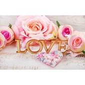 "Алмазная вышивка ""Love"". Полная выкладка"