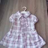 Стоп!!фирменное удобное яркое натуральное стильное красивое платье- рубашка