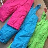 брюки, комбинезон, на осень, внутри флис, р. 6-12 месяцев 74-80 см, Impidimpi.