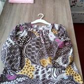 Стоп!!! Фирменная удобная яркая натуральная красивая стильная блуза от palomino
