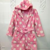 Теплый махровый мягусенький халат George на 4-6 лет